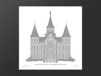 Provo Tabernacle Letterpress Poster type letterpress
