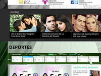 Univision Homepage Categories