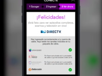 UX exploration of TVE/MVPD for Univision
