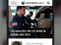 Univision Homepage Mobile Prototype