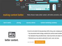 Homepage redesign - MediaShower