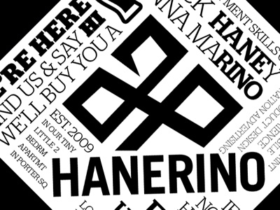 Hanerino Coaster coaster print hanerino letterpress