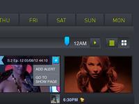 TV schedule with slider
