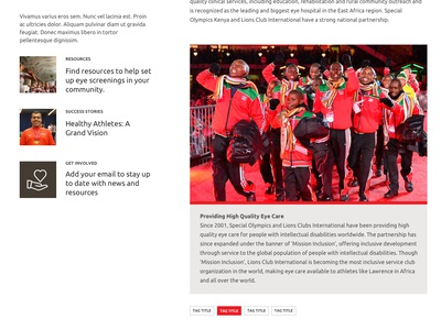 Special Olympics Inclusive Health Site Design made with invision ui web design homepage