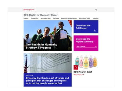 Johnson & Johnson  Health for Humanity Report 2018 ui sketch web