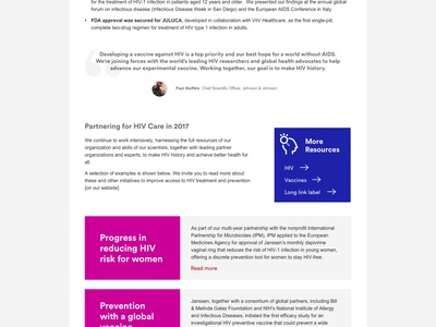 Johnson & Johnson  Health for Humanity Report 2018 ui sketch web