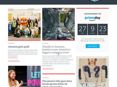 Amazon DayOne site redesign web sketch illustration ui design homepage
