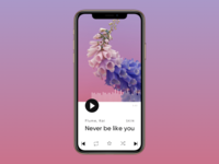 iPhone Music Player — Daily UI #009