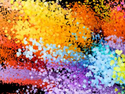 Blast of Paint Particles