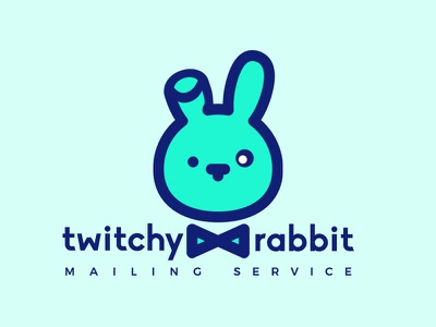 Twitchy Rabbit- Thirty Logos #3 daily logo challenge logo design thirtylogos minimal logo