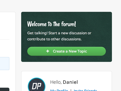 Forum Promo forum css3 button widget html5 theme