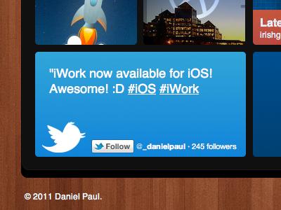 Twitter & a bit of everything else bit everything web css3 wood windows 8 ios5 iwork twitter dribbble 3d