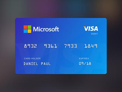 Bank Card fintech bank payment card credit card bank card stripe microsoft