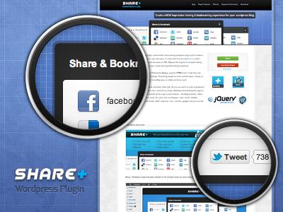 WordPress Plugin: SharePlus wordpress plugin html css3 jquery