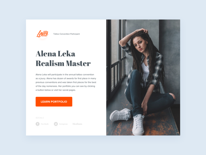 Tattoo Convention - Master Page landing icon typography branding logo design landing page site accurate design ux ui