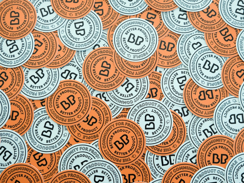 Better Product stickers badge stickers