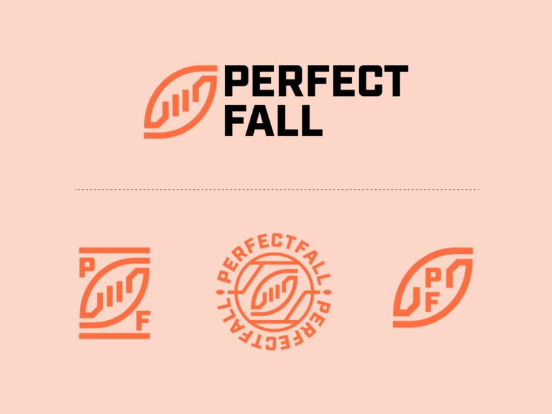 PerfectFall Visual Identity sports geometric branding logo