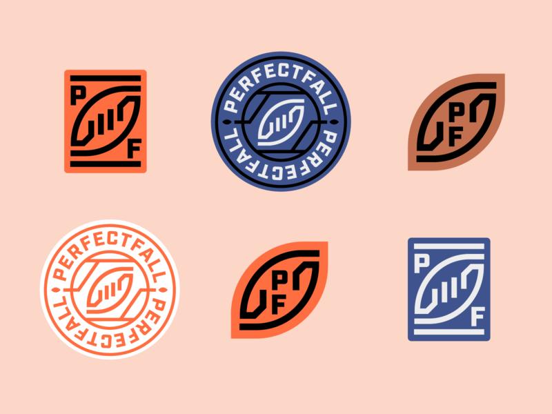 PerfectFall's Visual Identity badge sports brand