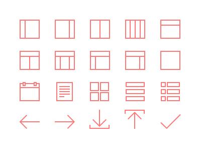 20 Line Icons freebie icons minimal ui psd web elements psddd ios 7 layout