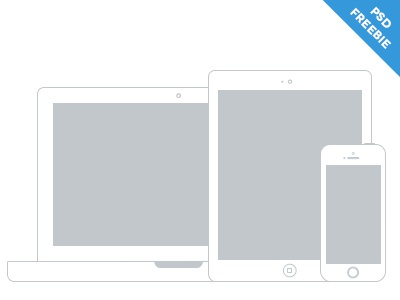 Apple Device Wireframes wireframes psd freebie psddd mockup apple iphone ipad macbook pro