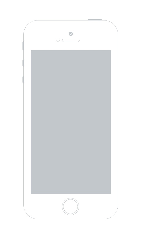 Iphone5s wireframe