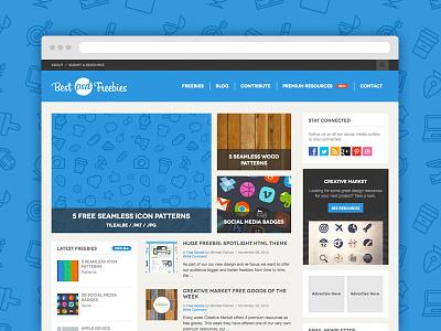 Best Psd Freebies Redesign redesign web design freebies flat design