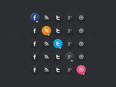 Dark Social Media Icons social media icons web elements psd freebie psddd