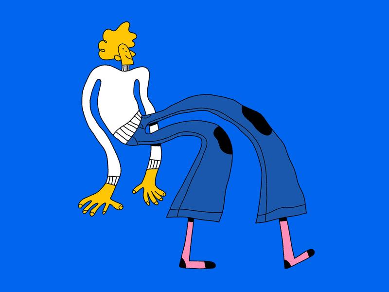 Ozzy pants illustration design fun character