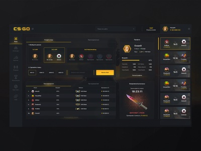 Gaming matchmaking platform ladder dota ux ui tournament steam gaming games fortnite faceit esports esport discord dashboad dark dark app dark ui counter strike counter-strike apex