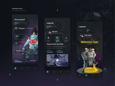 ApexLegends Companion -  Mobile App Concept