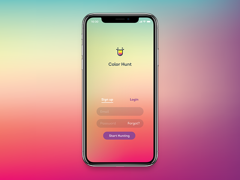 Daily UI #001 Sign Up iphone screen sign up daily ui