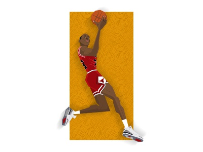 Michael Jordan - The Last Dance slam dunk dunk basketball illustration 90s nba chicago bulls michael jordan