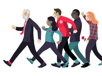 For the Many nhs care equality forthemany labour election britain uk love peace illustration