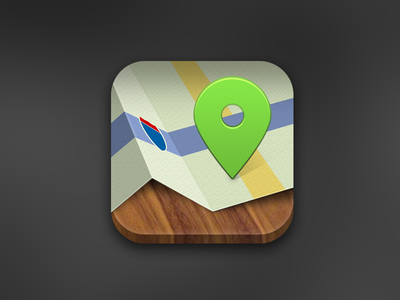 Mapping app icon illustration ios icon map