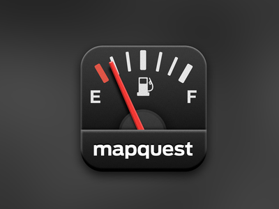 MapQuest Gas app icon ios illustration icon