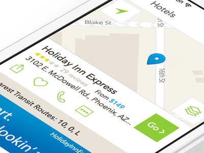 MapQuest for iOS location detail ui interaction design ux map ios