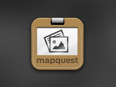 MapQuest Travel app icon illustration ios icon map