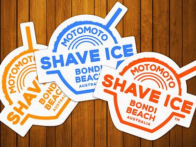 Motomoto Shave Ice logo logo illustration