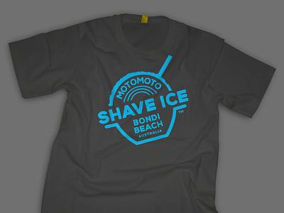 Motomoto Shave Ice logo graphic design t-shirt logo illustration