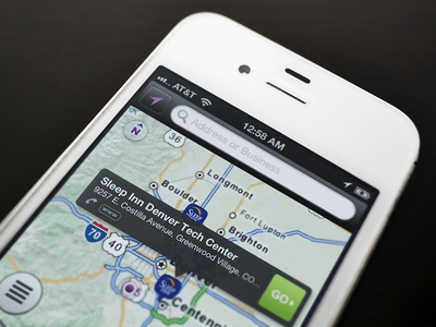 Mapping App ui interaction design ux map ios