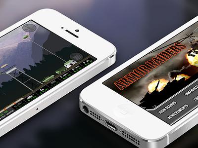 Armor Raiders for iOS ui interaction design ux games ios