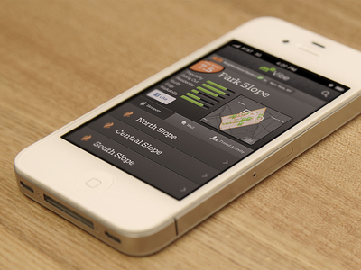 MapQuest Vibe for iOS ui interaction design ux map ios