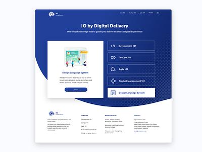 Knowledge Hub Landing Page icon web ui design
