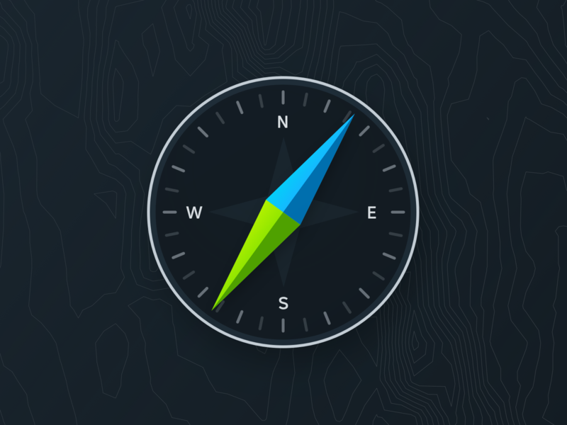 Compass icon illustration mapping compass