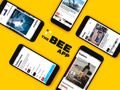 The Bee App first shot react-native app bee