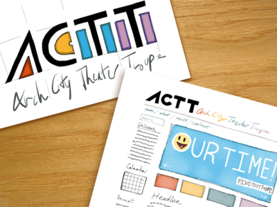 Arch City Theater Troupe Website/Logo Designs paperby53 handwritten theater