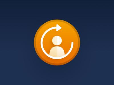 Follow up with Me — Icon logo icon