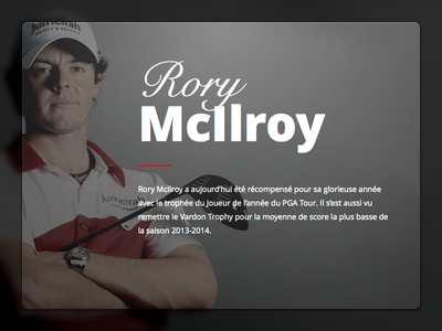 Rory McIlroy Card card golf