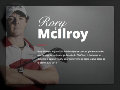 Rory McIlroy Card