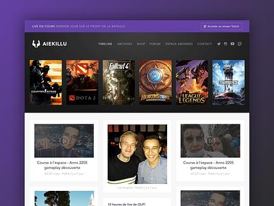 Aiekillu Twitch broadcaster videogames stream blog twitch